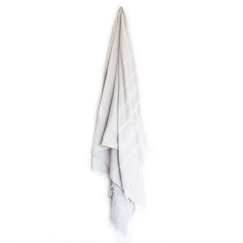 Classic Turkish Towel Pale Grey