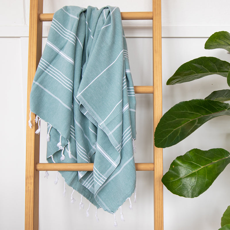 Classic Turkish Towel Sage - NEW