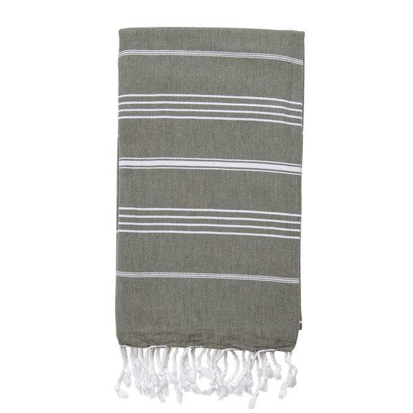 Classic Turkish Towel Khaki - NEW