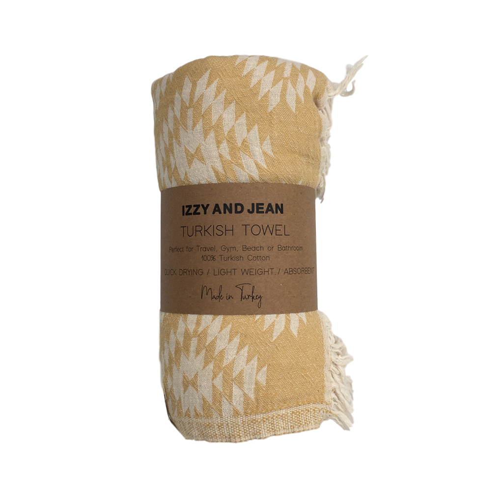 Kilim Turkish Towel Mustard