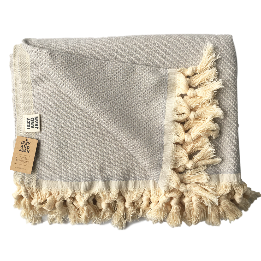 Montauk Throw Silver Grey