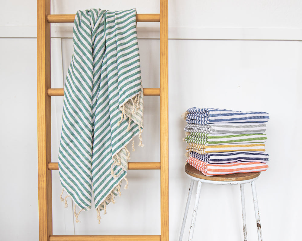 St Tropez Turkish Towel Sage