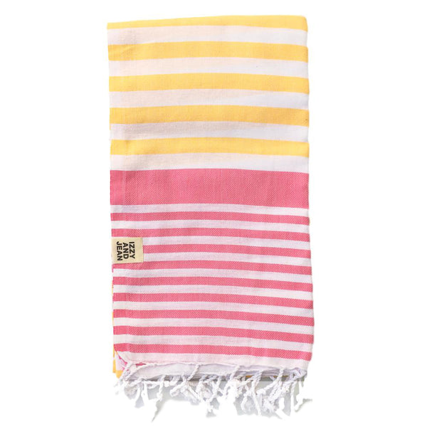 Sofia Turkish Towel Yellow Pink