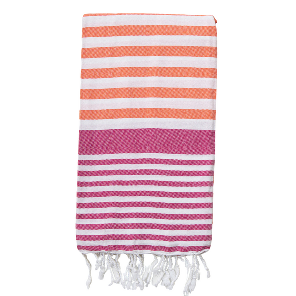 Sofia Turkish Towel Coral Fuchsia
