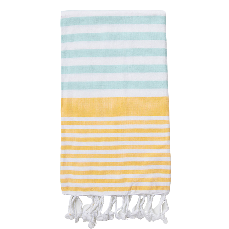 Sofia Turkish Towel Mint Yellow