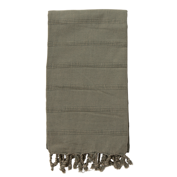 Stonewashed Turkish Towel Khaki - NEW