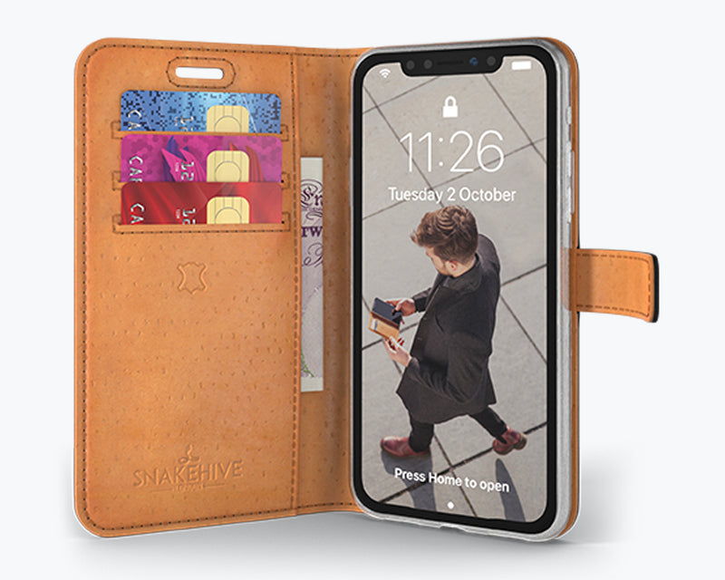 Vintage Leather Wallet - Apple iPhone X/XS
