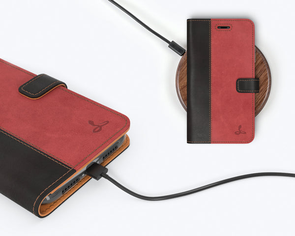 Vintage Two Tone Leather Wallet - Apple iPhone SE (2020)