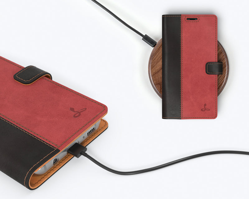 Vintage Two Tone Leather Wallet - Samsung Galaxy S8