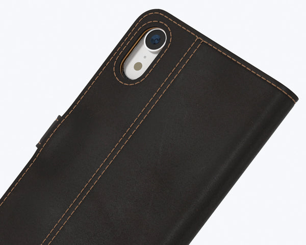 Vintage Two Tone Leather Wallet - Apple iPhone XR