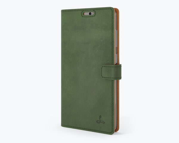 Vintage Bottle Green Leather Wallet - Samsung Galaxy Note 20