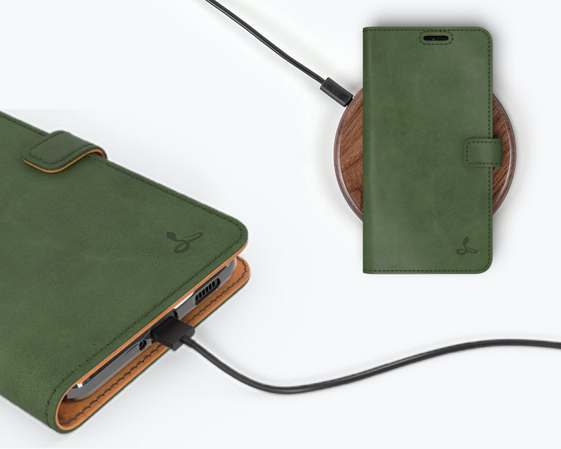 Vintage Leather Wallet - Samsung Galaxy S21 Ultra