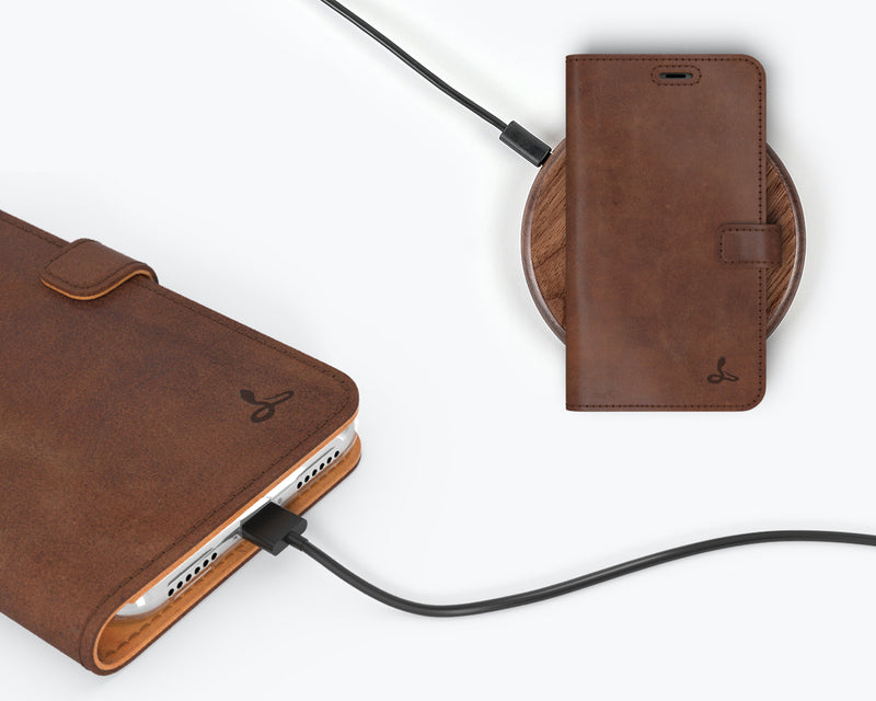 Vintage Leather Wallet - Apple iPhone XS Max