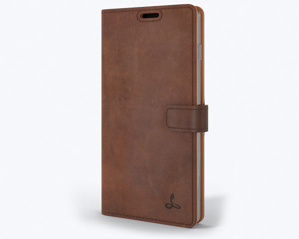 Vintage Leather Wallet - Samsung Galaxy S10 Plus
