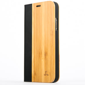 Bamboo Wood Wallet Case - Apple iPhone X - Snakehive