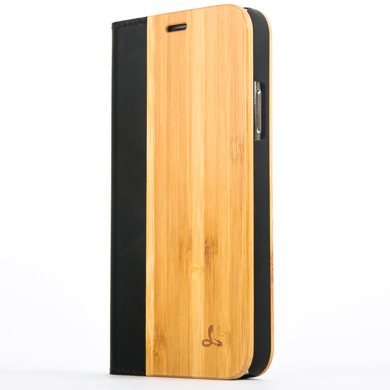 Bamboo Wood Wallet Case - Apple iPhone X