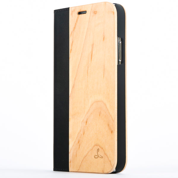 Maple Wood Wallet Case - Apple iPhone X - Snakehive