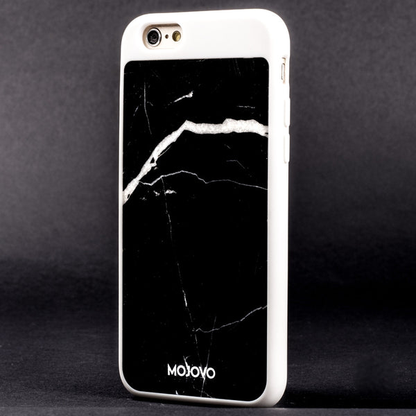 Mojovo Black Marble Back Case- Apple iPhone 6/6s (White Case) - Snakehive