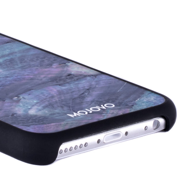 Mojovo Iridescent Sea Blue Back Case – Apple iPhone 6 (Black Case)