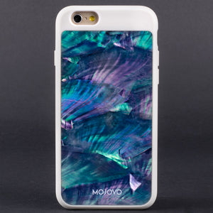 "Mojovo Iridescent Sea Blue Back Case €"" Apple iPhone 6 (White Case) - Snakehive"