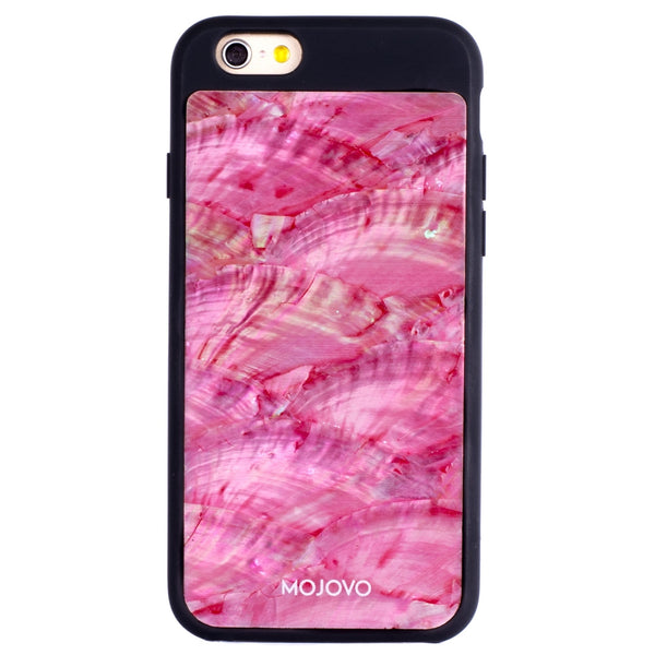Mojovo Iridescent Coral Pink Back Case – Apple iPhone 6/6s (Black Case) - Snakehive