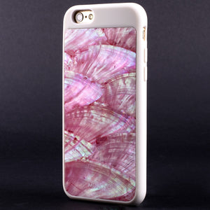 "Mojovo Iridescent Coral Pink Back Case €"" Apple iPhone 6/6s (White Case) - Snakehive"