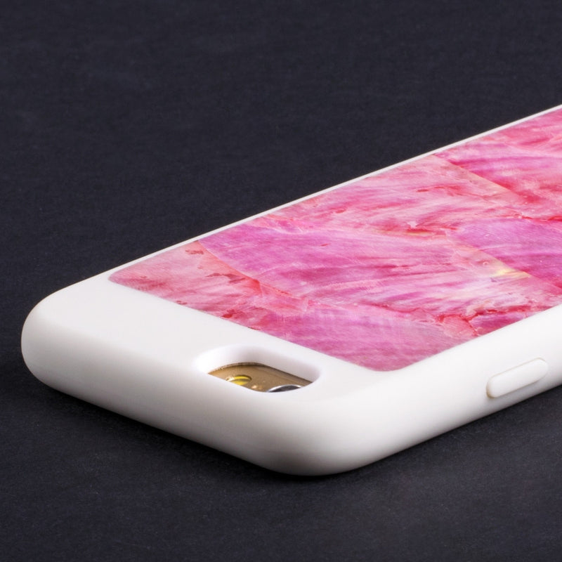 Mojovo Iridescent Coral Pink Back Case – Apple iPhone 6/6s (White Case) - Snakehive