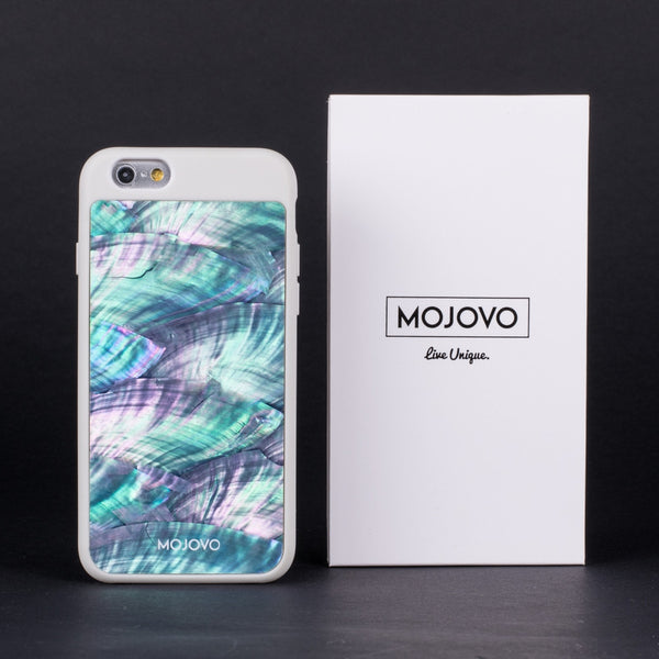 Mojovo Iridescent Sea Blue Back Case – Apple iPhone 6 (White Case)