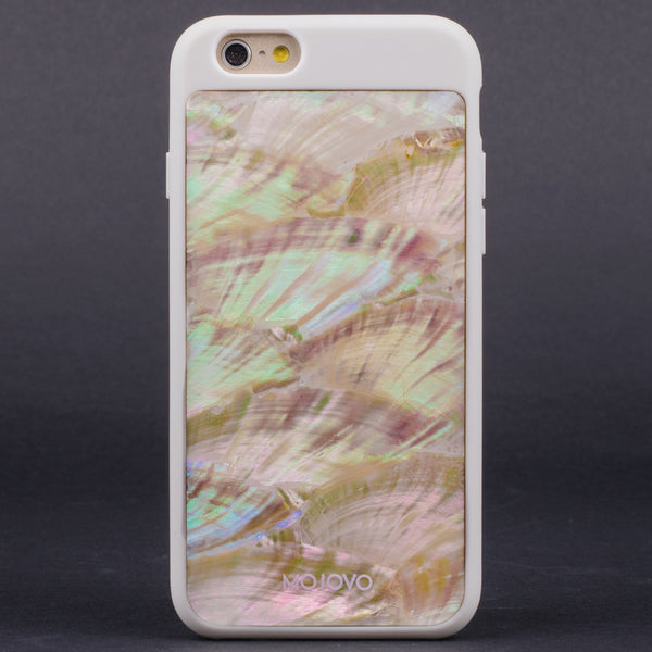 Mojovo Iridescent Pearl Back Case – Apple iPhone 6 (White Case)