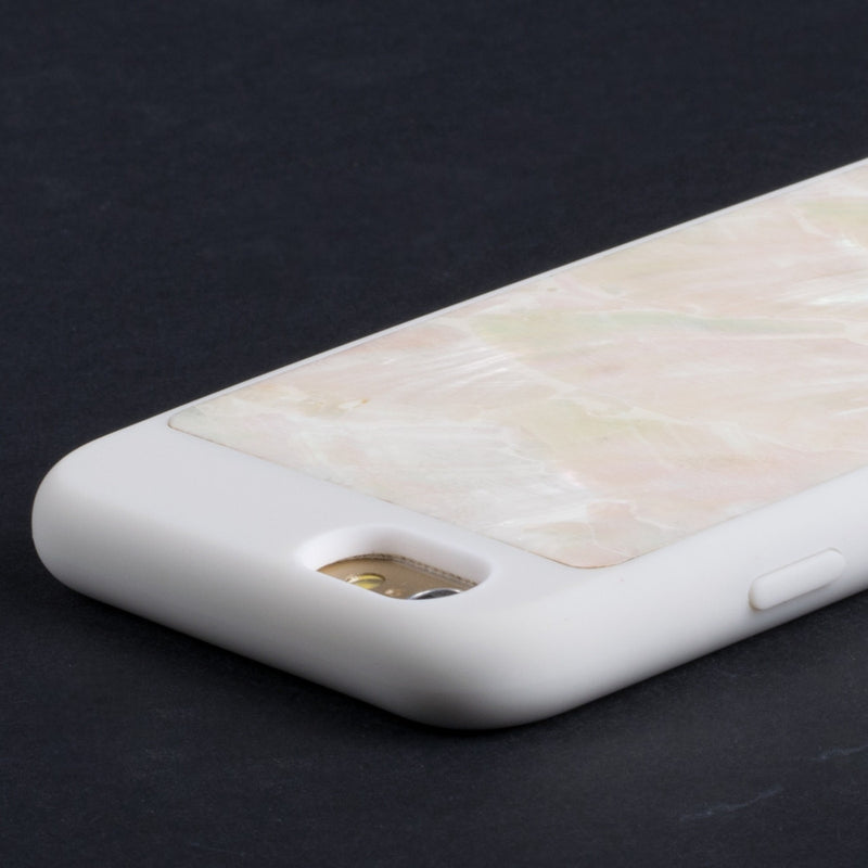 Mojovo Iridescent Pearl Back Case – Apple iPhone 6 (White Case) - Snakehive