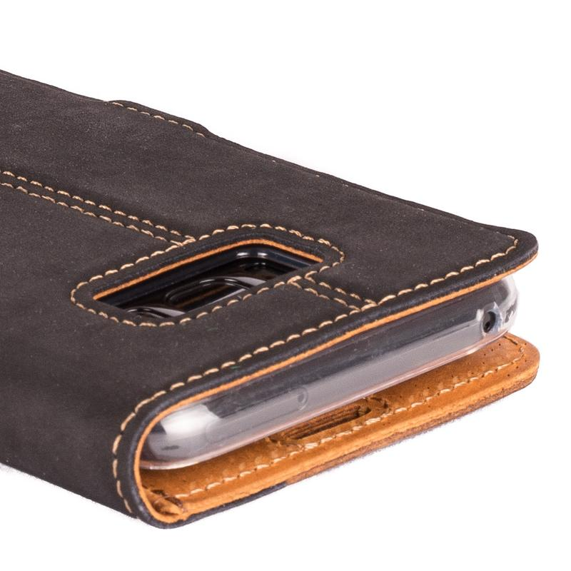 Vintage Two Tone Leather Wallet - Samsung Galaxy S8 Plus