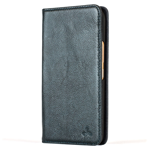 "Slimline Teal Dappled Leather Wallet €"" HTC 10 - Snakehive"