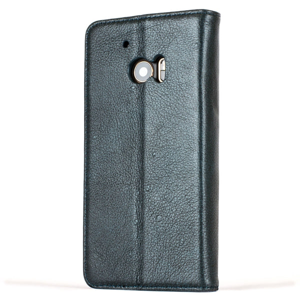 Slimline Teal Dappled Leather Wallet – HTC 10