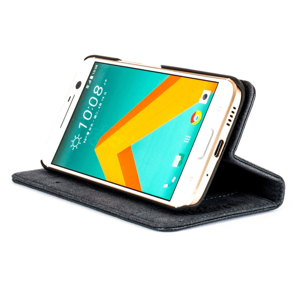 Slimline Teal Dappled Leather Wallet – HTC 10 - Snakehive