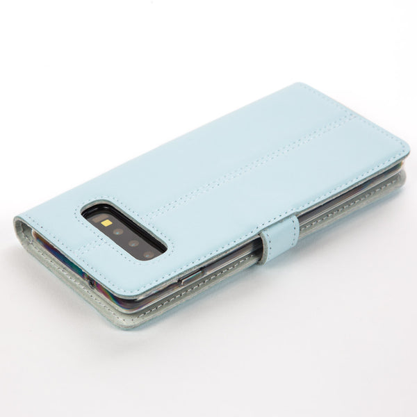 Sky Blue Pastel Leather Case - Samsung Galaxy S10