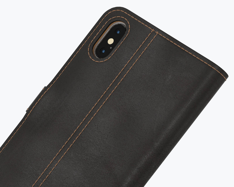Vintage Two Tone Leather Wallet - Apple iPhone XS Max