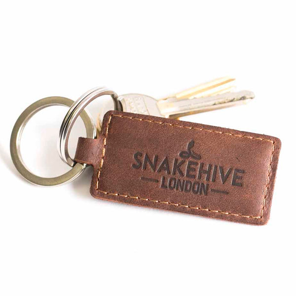 Vintage Chestnut Brown Key Ring - Snakehive