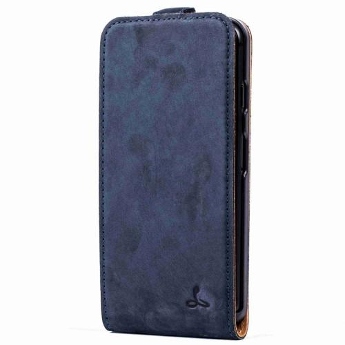 Vintage Navy Leather Flip - Apple iPhone 7