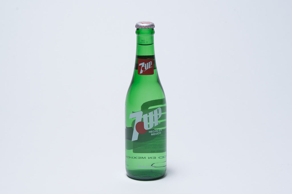 Imported glass bottle 7UP