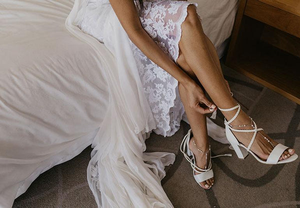 Our fav Grace Loves Lace Wedding Dresses styled with our shoes