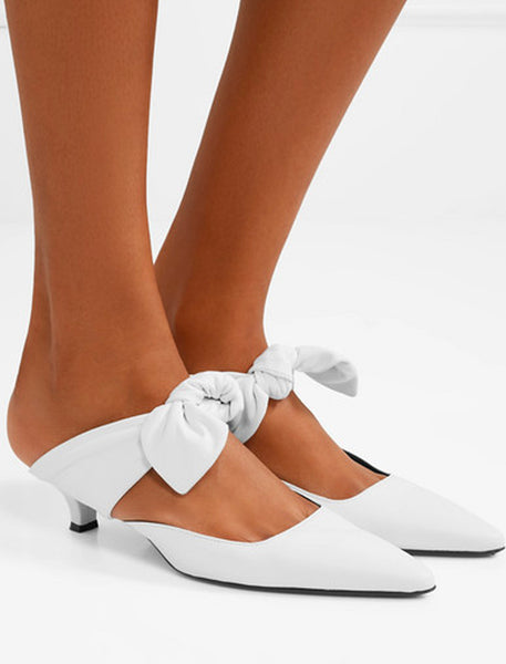 COCO LEATHER MULES, The Row