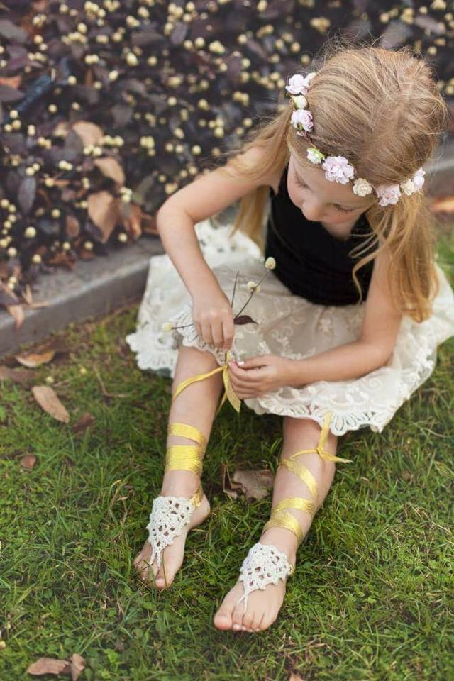 garden girls - children's barefoot sandals – forever soles
