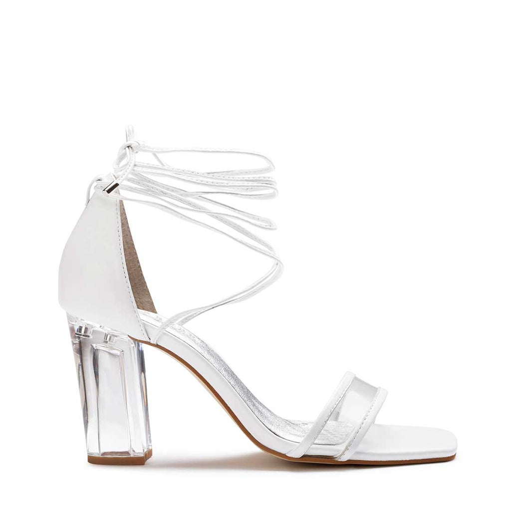 Perspex clear wedding heels