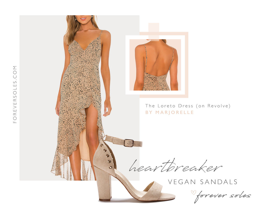Forever Soles Heartbreaker Vegan Sandals + Wedding Guest Outfit