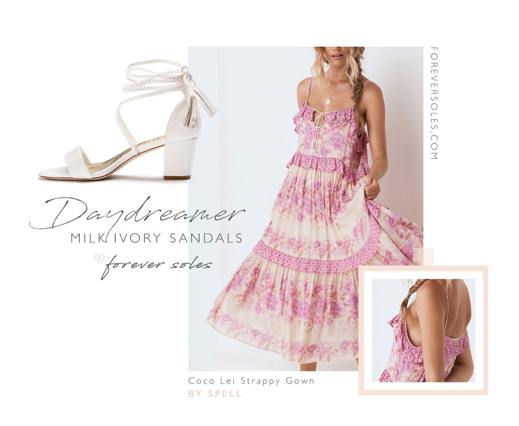 Forever Soles Daydreamer Sandals + Wedding Guest Outfit