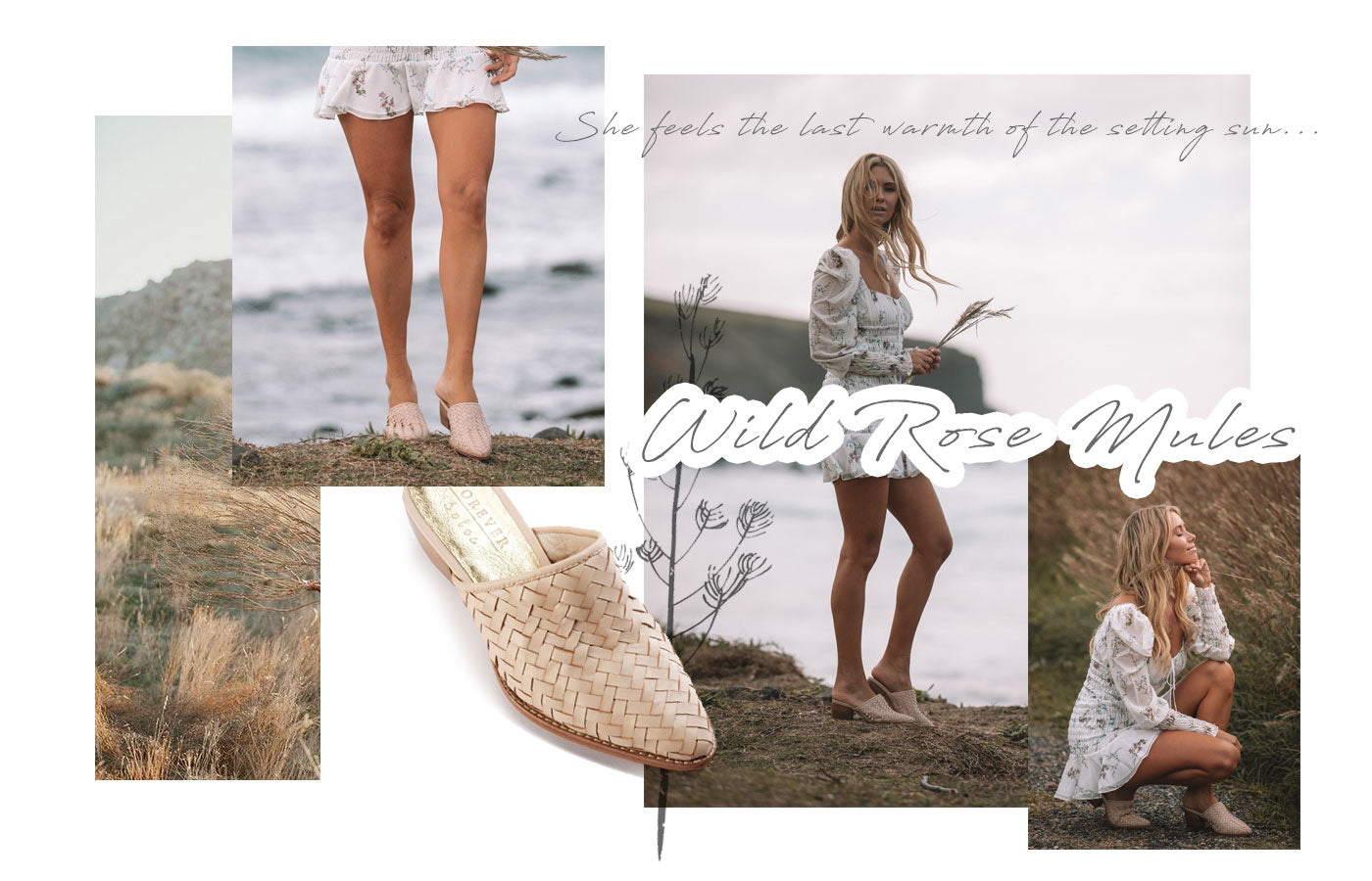 Forever Soles - Escape Collection - Wild Rose Mules