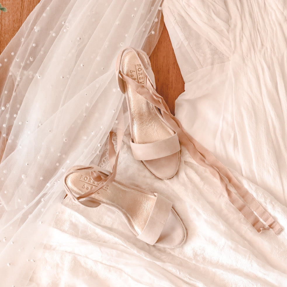Bridal shoes heirloom pieces