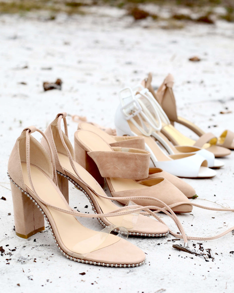 Wedding shoes with studs