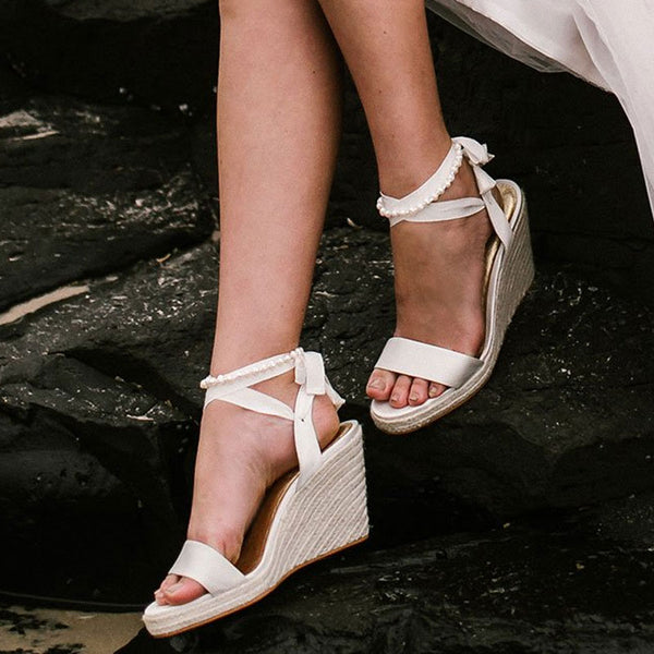 eb6714f6ea Honestly, indoor or outdoor, they are way more comfy than heels and totally  versatile! From wedding ceremony on the beach to the garden reception, ...