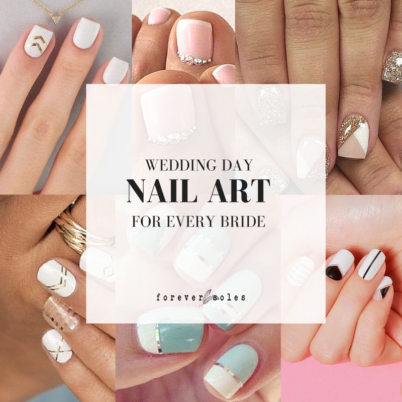 wedding bride nail art